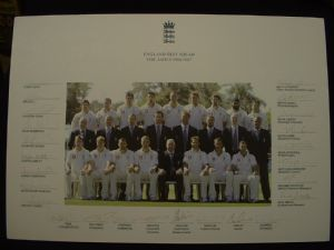 ENGLAND TEST CRICKET SQUAD - THE ASHES 2006/2007